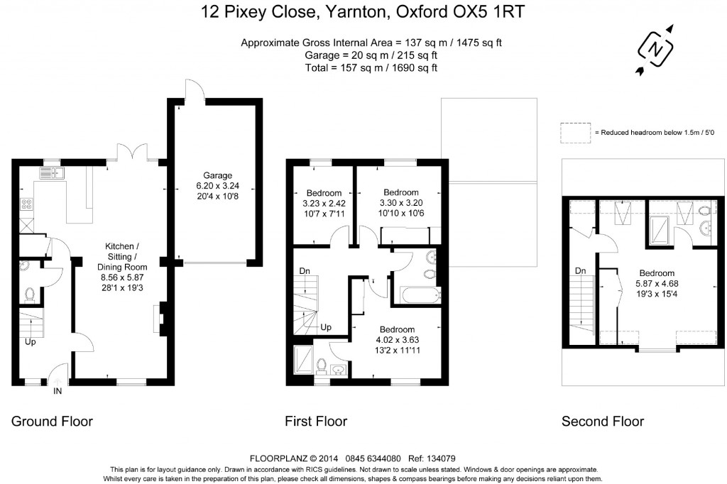 Floorplans For Pixey Close, Yarnton, Oxfordshire, OX5
