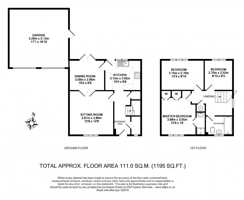 Floorplans For Manor Road, Witney, Oxfordshire, OX28