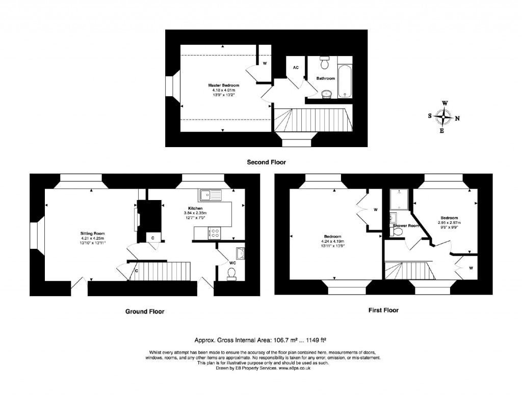 Floorplans For White Hart, Old Marston, Old Marston Oxford, OX3