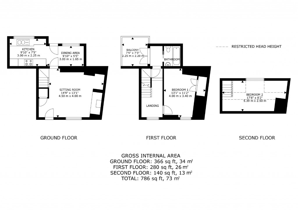 Floorplans For High Street, Eynsham