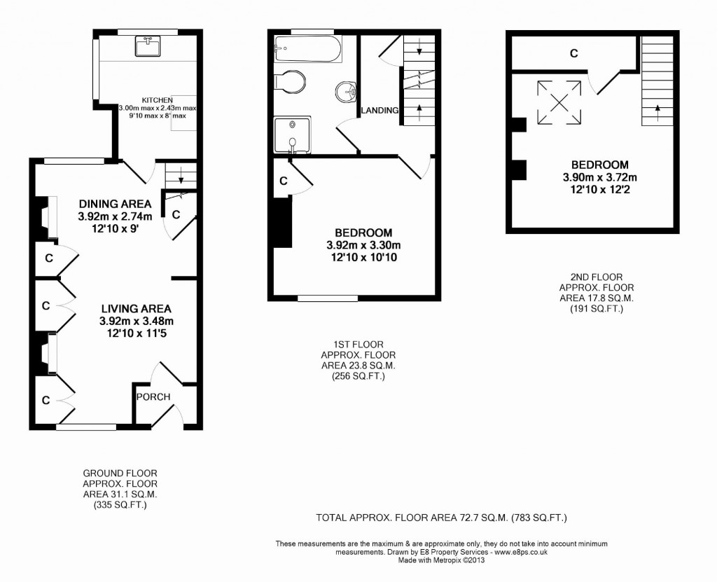 Floorplans For Park Terrace, East Challow, East Challow, Oxfordshire, OX12